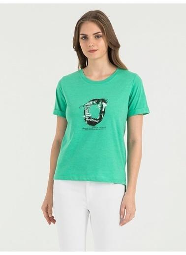 Loft Baskılı Tişört Yeşil